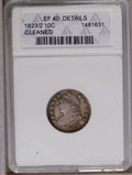 Bust Dimes: , 1823/2 10C Small Es--Cleaned--ANACS. XF40 Details. NGC Census:(4/75). PCGS Population (1/49). Mintage: 440,000. Numismedia...