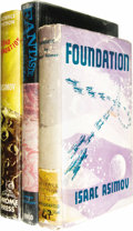 Books:First Editions, Three Isaac Asimov First Editions, including:. Foundation(London: Wiedenfeld & Nicolson, 1953), first UK edition, 2...(Total: 3 Item)