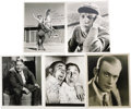 "Movie/TV Memorabilia:Autographs and Signed Items, Assorted Vintage Actor-Signed Photos. Set of five b&w 8"" x 10"" photos inscribed and signed by Huntz Hall, Johnny Mack Brown,... (Total: 1 Item)"