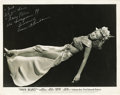"Movie/TV Memorabilia:Autographs and Signed Items, Assorted Vintage Actress-Signed Photos. Set of four b&w 8"" x10"" photos inscribed and signed by Jean Darling, Jeanette MacDo...(Total: 1 Item)"