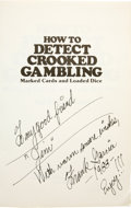 Movie/TV Memorabilia:Autographs and Signed Items, Frank Garcia Signed Book. A copy of the 1977 book How to Detect Crooked Gambling, inscribed and signed by author Frank G... (Total: 1 Item)