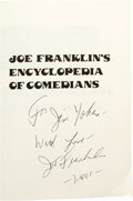 Movie/TV Memorabilia:Autographs and Signed Items, Joe Franklin Signed Books and Magazines. Includes copies of JoeFranklin's Encyclopedia of Comedians, Joe Franklin's M...(Total: 1 Item)