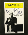 "Movie/TV Memorabilia:Autographs and Signed Items, Victor Borge Signed ""Playbill"" Cover. The front cover of an issueof Playbill, date unknown, autographed by the pianist ...(Total: 1 Item)"