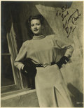 "Movie/TV Memorabilia:Autographs and Signed Items, Yvonne De Carlo Signed Photo. A b&w 11"" x 14"" photo of theactress, inscribed and signed by her in black marker. In VeryFin... (Total: 1 Item)"