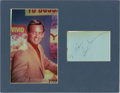 "Movie/TV Memorabilia:Autographs and Signed Items, David Janssen Signature Cut with Photo. An autograph album pagesigned by Janssen in black ink, matted along with a color 8""...(Total: 1 Item)"