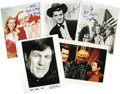 """Movie/TV Memorabilia:Autographs and Signed Items, Assorted Actor Signed Photos. Set of five 8"""" x 10"""" photos inscribed and signed photos includes two Bewitched promo photo... (Total: 1 Item)"""