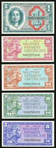 Military Payment Certificates:Series 611, Series 611; 5¢; 10¢; 25¢; 50¢; $1 Choice New or Better. . ... (Total: 5 notes)