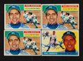 Autographs:Sports Cards, Signed 1955 and 1956 Topps Phil Rizzuto Baseball Card Quartet (4). ...