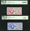 Military Payment Certificates:Series 651, Series 651 5¢ and 10¢ PCGS Graded Pair.. ... (Total: 2 notes)