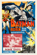 "Movie Posters:Serial, The New Adventures of Batman and Robin (Columbia, 1949). One Sheet(27.25"" X 41"") Chapter 4 -- ""Batman Trapped."". ..."