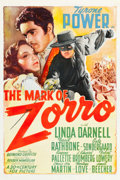 "Movie Posters:Swashbuckler, The Mark of Zorro (20th Century Fox, 1940). One Sheet (27.25"" X41"") Style A.. ..."