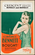 "Movie Posters:Romance, Bought! (Warner Brothers, 1931). Window Card (14"" X 22"").. ..."