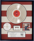Music Memorabilia:Awards, Bruce Springsteen Signed Born In The U.S.A. MultiplePlatinum Sales Award (Columbia QC 38653, 1984)....