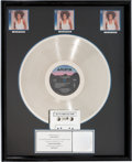 "Movie/TV Memorabilia:Awards, A Whitney Houston-Related RIAA Multi-Platinum Record Award for""Whitney,"" Circa 1990s...."