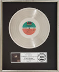 Music Memorabilia:Awards, Julian Lennon Valotte RIAA Platinum Record Award (Atlantic80184-1, 1984)....