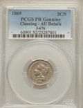 1869 3CN Three Cent Nickel, Judd-676, Pollock-753, 755, R.4, -- Cleaned -- PCGS Genuine. AU Details. NGC Census: (1/21)...