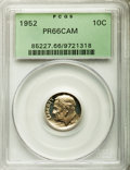 Proof Roosevelt Dimes: , 1952 10C PR66 Cameo PCGS. PCGS Population (54/63). NGC Census:(24/91). Numismedia Wsl. Price for problem free NGC/PCGS co...