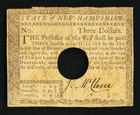 New Hampshire April 29, 1780 $3 Very Fine