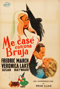 """Movie Posters:Fantasy, I Married a Witch (United Artists, 1942). Argentinean Poster (29"""" X43.5"""").. ..."""