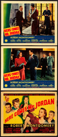 """Movie Posters:Fantasy, Here Comes Mr. Jordan (Columbia, 1941). Title Lobby Card and LobbyCards (2) (11"""" X 14"""").. ... (Total: 3 Items)"""