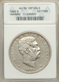 Coins of Hawaii: , 1883 $1 Hawaii Dollar -- Cleaned -- ANACS. AU50 Details. NGC Census: (29/180). PCGS Population (64/200). Mintage: 500,000. ...