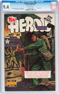 Golden Age (1938-1955):War, Heroic Comics #83 (Eastern Color, 1953) CGC NM 9.4 Off-whitepages....