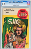 Golden Age (1938-1955):Classics Illustrated, Stories by Famous Authors Illustrated #3 She (Seaboard Pub., 1950)CGC NM- 9.2 Off-white to white pages....