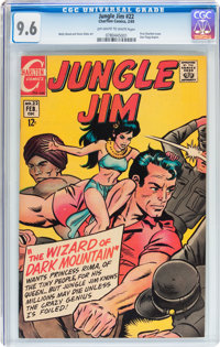 Jungle Jim #22 (Charlton, 1969) CGC NM+ 9.6 Off-white to white pages