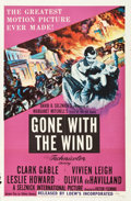 "Movie Posters:Academy Award Winners, Gone with the Wind (MGM, R-1954). One Sheet (27"" X 41"").. ..."