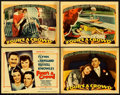 "Movie Posters:Comedy, Four's a Crowd (Warner Brothers, 1938). Title Lobby Card and LobbyCards (3) (11"" X 14"").. ... (Total: 4 Items)"