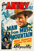 """Movie Posters:Western, Man from Music Mountain (Republic, 1938). One Sheet (27.25"""" X 40.5"""").. ..."""