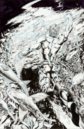 Original Comic Art:Covers, Ethan Van Sciver Aquaman #9 Cover Original Art (DC,2003)....