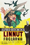 """Movie Posters:Hitchcock, The Birds (Universal, 1963). Finnish Poster (16"""" X 23.75""""). Hitchcock.. ..."""