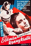"Movie Posters:Foreign, Brink of Life (Allotria-Filmi, 1958). Finnish Poster (16"" X 24""). Foreign.. ..."