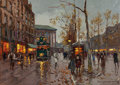 Paintings, EDOUARD-LÉON CORTÈS (French, 1882-1969). Place de la Madeleine. Oil on canvas. 13 x 18 inches (33.0 x 45.7 cm). Signed l...