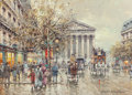 Paintings, ANTOINE BLANCHARD (French, 1910-1988). Rue Royale, Paris, 1900. Oil on canvas. 13 x 18 inches (33.0 x 45.7 cm). Signed l...
