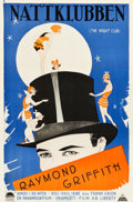 """Movie Posters:Comedy, The Night Club (Paramount, 1925). Swedish One Sheet (23.5"""" X35.5"""").. ..."""