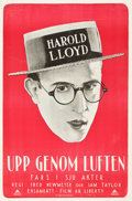 """Movie Posters:Comedy, Safety Last! (Pathé, 1923). Swedish One Sheet (23.5"""" X 35.5"""").. ..."""