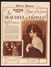 """Warner Brothers Exhibitor Book (Warner Brothers, 1923). Exhibitor Book (Multiple Pages, 8"""" X 11"""") & Herald..."""