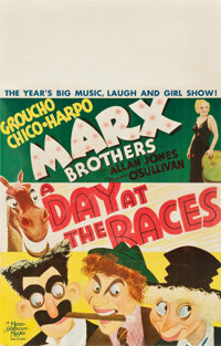 "A Day at the Races (MGM, 1937). Window Card (14"" X 22"")"