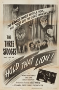 "Movie Posters:Comedy, The Three Stooges in Hold That Lion! (Columbia, 1947). One Sheet(27"" X 41"").. ..."