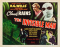 "Movie Posters:Horror, The Invisible Man (Realart, R-1951). Half Sheet (22"" X 28"") StyleA.. ..."