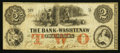 Obsoletes By State:Michigan, Ann Arbor, MI- The Bank of Washtenaw $2 May 1, 1854. ...