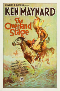 "The Overland Stage (First National, 1927). One Sheet (27"" X 41"") Style B"