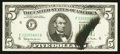 Error Notes:Ink Smears, Fr. 1968-F $5 1963A Federal Reserve Note. Very Fine+.. ...