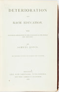 Books:Social Sciences, Samuel Royce. Deterioration and Race Education. With PracticalApplication to the Condition of the People and Industry. ...