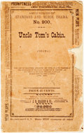 Books:Literature Pre-1900, [Uncle Tom's Cabin]. [Stage Adaptation]. George L. Aiken. Uncle Tom's Cabin. Ames' Series of Standard and Minor Drama, N...