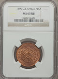 German East Africa, German East Africa: German Colony Pesa 1890 MS65 Red and BrownNGC,...