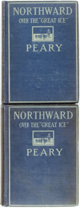 "Books:Travels & Voyages, Robert E. Peary. Northward over the ""Great Ice."" New York: Frederick A. Stokes, 1898. First edition. Two volumes. Or... (Total: 2 Items)"
