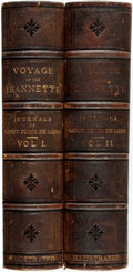 Books:Travels & Voyages, [George W. DeLong]. The Voyage of the Jeannette. The Ship and Ice Journals of George W. DeLong. Boston: Houghton... (Total: 2 Items)